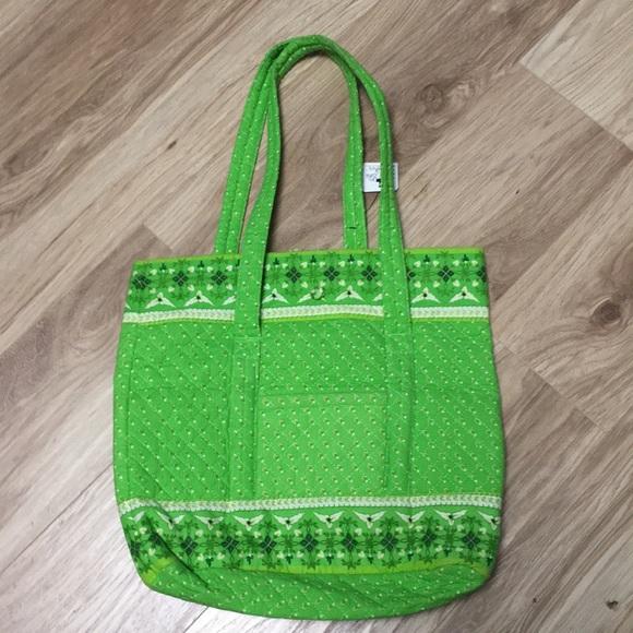 Handbags - Green tote bag